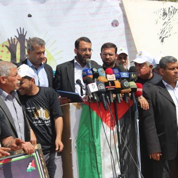 مؤتمر صحفي  - إضراب الحرية والكرامة 2017