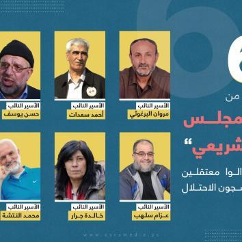 الاحتلال يواصل اختطاف 6 من نواب المجلس التشريعي الفلسطيني