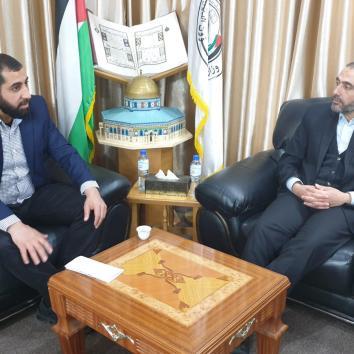 زيارة مكتب إعلام الأسرى لوزارة الأوقاف بمدينة غزة للتعاون في تنفيذ فعاليات يوم الأسير 2020