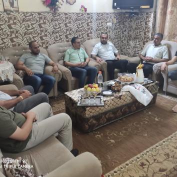 زيارة عائلة الأسير خالد السيلاوي من قطاع غزة